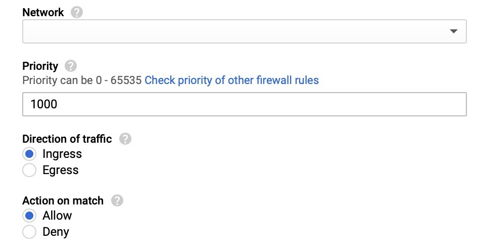 Configuring firewall rules